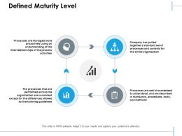 Defined Maturity Level Ppt Summary Graphics Pictures