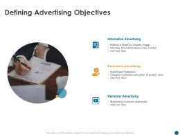 Defining Advertising Objectives Informative M501 Ppt Powerpoint Presentation Infographics Picture