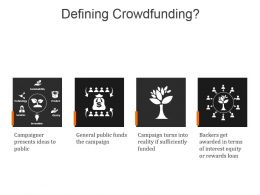 Defining Crowdfunding Powerpoint Presentation Templates