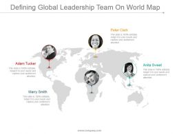 Defining Global Leadership Team On World Map Ppt Images
