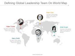 Defining Global Leadership Team On World Map Ppt Images