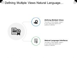 Defining Multiple Views Natural Language Interfaces Native Language Attempt