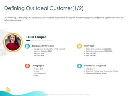 Defining Our Ideal Customer Background Information Ppt Powerpoint Presentation Portfolio Themes