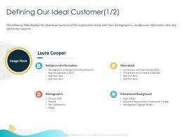 Defining Our Ideal Customer Main Goals Ppt Powerpoint Presentation Portfolio Structure