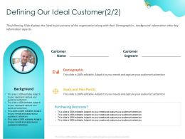 Defining Our Ideal Customer Pain Points Ppt Powerpoint Presentation Visual Aids Example File