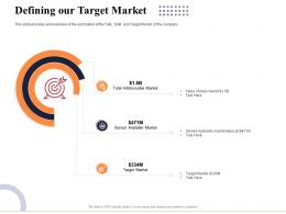 Defining Our Target Market Marketing And Business Development Action Plan Ppt Inspiration