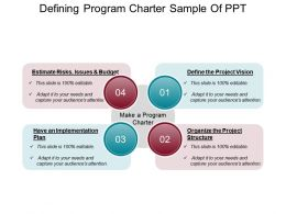 Defining Program Charter Sample Of Ppt