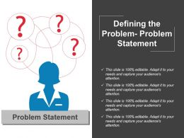 Defining The Problem Problem Statement Sample Of Ppt