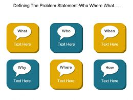 Defining The Problem Statement Who Where What When Why And How Good Ppt Example