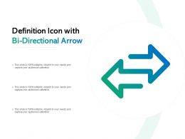 Definition Icon With Bi Directional Arrow