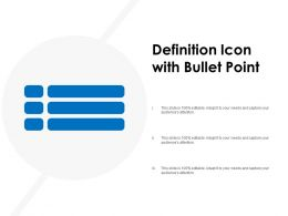 Definition Icon With Bullet Point