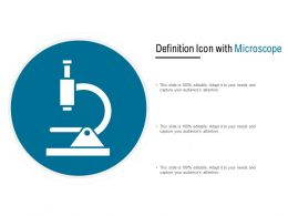 Definition Icon With Microscope