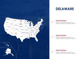 Delaware Map Powerpoint Presentation PPT Template