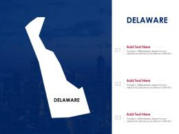 Delaware Powerpoint Presentation PPT Template