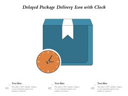 Delayed Package Delivery Icon With Clock