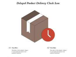 Delayed Product Delivery Clock Icon