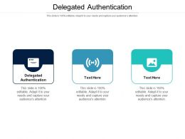 Delegated Authentication Ppt Powerpoint Presentation Pictures Cpb
