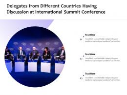 Delegates From Different Countries Having Discussion At International Summit Conference