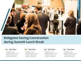 Delegates Having Conversation During Summit Lunch Break