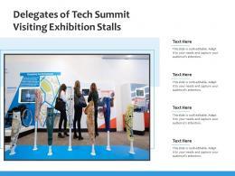 Delegates Of Tech Summit Visiting Exhibition Stalls