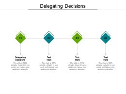 Delegating Decisions Ppt Powerpoint Presentation Inspiration Themes Cpb