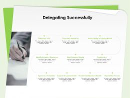 Delegating Successfully State Required Results Ppt Powerpoint Presentation Professional