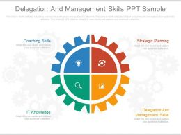 Delegation And Management Skills Ppt Sample