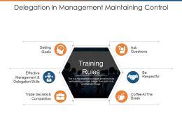 Delegation In Management Maintaining Control Ppt Slide Design