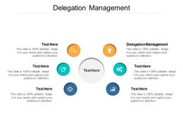Delegation Management Ppt Powerpoint Presentation Outline Background Cpb