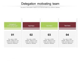 Delegation Motivating Team Ppt Powerpoint Presentation Icon Layouts Cpb