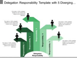 Delegation Responsibility Template With 5 Diverging Arrows
