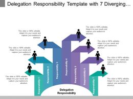 Delegation Responsibility Template With 7 Diverging Arrows