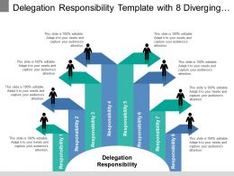 Delegation Responsibility Template With 8 Diverging Arrows