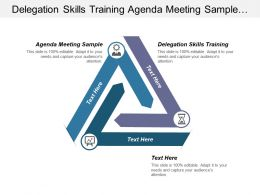 Delegation Skills Training Agenda Meeting Sample Business Communication Cpb