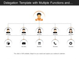 Delegation Template With Multiple Functions And Diverging Arrows