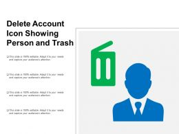 Delete Account Icon Showing Person And Trash