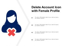 Delete Account Icon With Female Profile