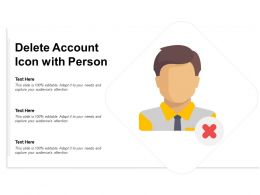 Delete Account Icon With Person