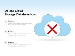 Delete Cloud Storage Database Icon