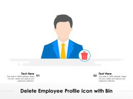 Delete Employee Profile Icon With Bin