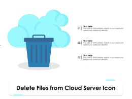 Delete Files From Cloud Server Icon