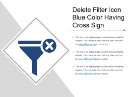Delete Filter Icon Blue Color Having Cross Sign