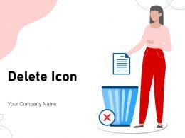 Delete Icon Database Business Indicating Presentation Sensitive