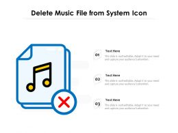 Delete Music File From System Icon