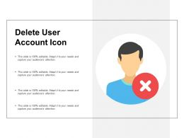 Delete User Account Icon