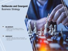 Deliberate And Emergent Business Strategy