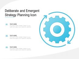 Deliberate And Emergent Strategy Planning Icon