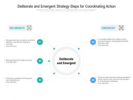 Deliberate And Emergent Strategy Steps For Coordinating Action