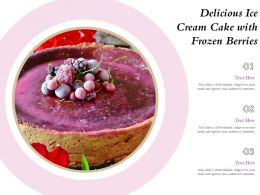 Delicious Ice Cream Cake With Frozen Berries