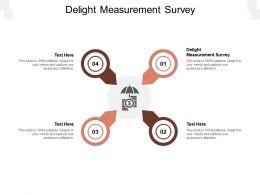 Delight Measurement Survey Ppt Powerpoint Presentation Icon Maker Cpb